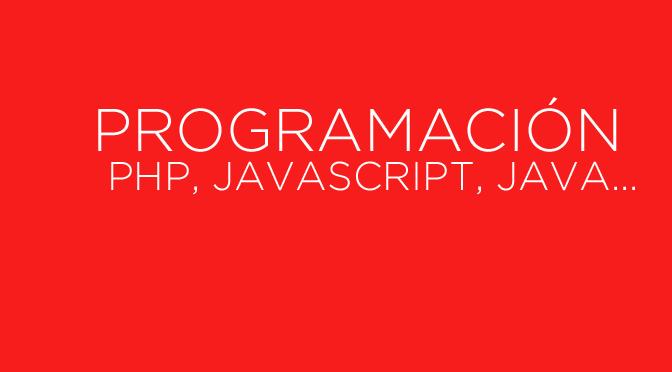 Programación en PHP, Javascript, Java, Python