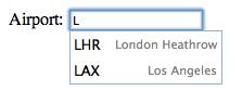 Al pulsar la tecla L se muestra los aeropuertos que empiezan con L