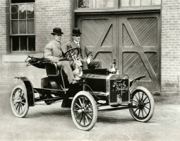 Henry Ford and Friend in Model N Runabout