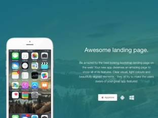 Tema Awesome landing page de Creative Tim