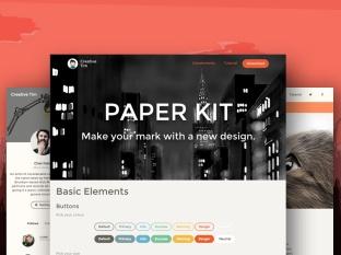 Tema Paper Kit de Creative Tim